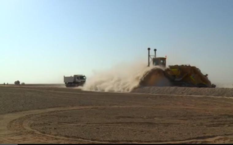 Work at the Khazzan natural gas development field.