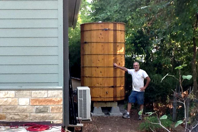 Capturing rainwater can earn a rebate from the City of Austin and provide the purest water possible for home use.