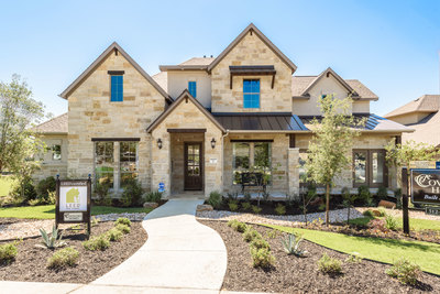 Coventry's new model in Sweetwater, Design 3563, has soaring two-story ceilings in the grand foyer and the spacious family room.