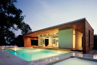 If a pool is a major investment, a pool house is definitely worth considering.
