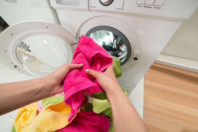 A front-loading washer uses less water and energy than a top-loader.