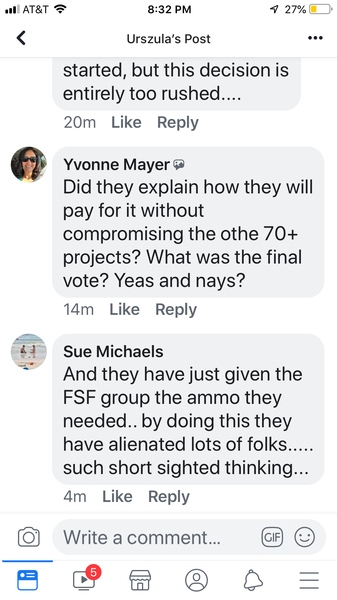 Comments of referendum supporters