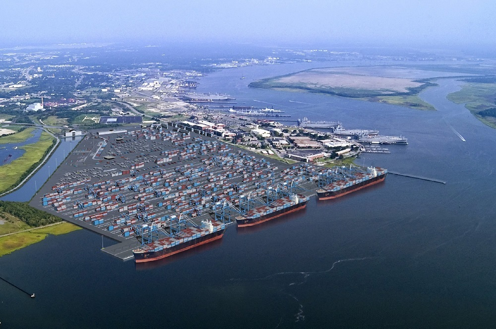 Construction began last month on the Charleston Harbor deepening project.