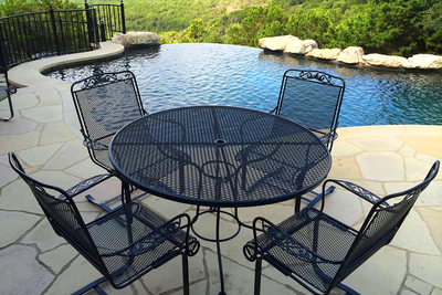 Popular metal outdoor dining sets of years past can be brought back to life for half the price of new.
