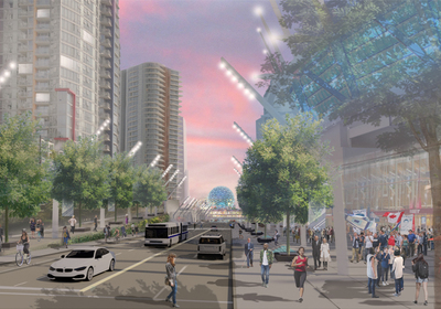 Under the new plan, Georgia Street will connect downtown Vancouver, British Columbia, to the waterfront.