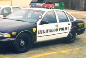 Medium highwood police car olde