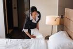 One great way to go green is to tell housekeeping you don't need your towels washed daily.
