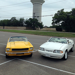 The first two cars confirmed for the Cedar Park HS show are Mustangs belonging to organizer Robert Juarez and his brother.
