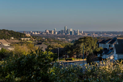 The home at 6212 Northern Dancer Drive has spectacular views of downtown Austin.