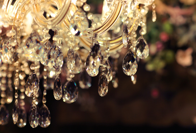 Fancy chandeliers are still popular among homeowners, experts say.