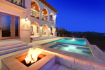 Eco-friendly designs and elements like outdoor kitchens and fire pits are popular additions to pools.