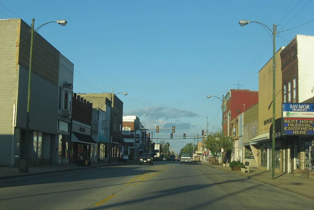 North Avenue in Flora, where residents are projected to experience a tax increase of $1,284,518.