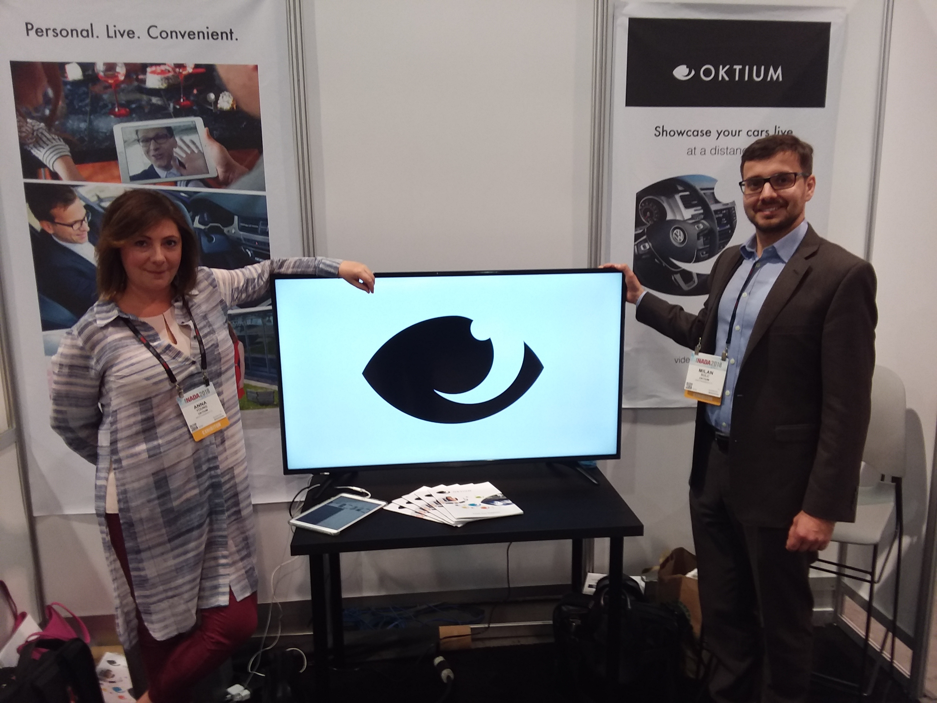 Oktium technology works very similarly to technology like FaceTime or Skype.