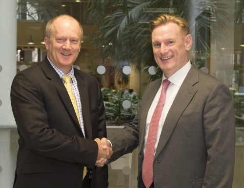 NDA CEO John Clarke (left) and NuGen CEO Tom Samson.