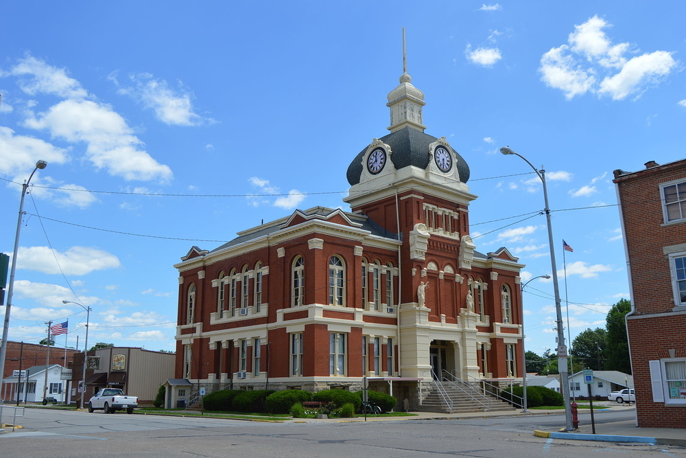 Scott County Courthouse in Winchester, a city in which residents are projected to experience a $774,483 tax increase this year.
