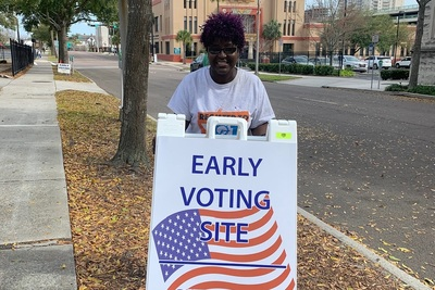 Sheila Singleton voted in the Florida presidential primary.