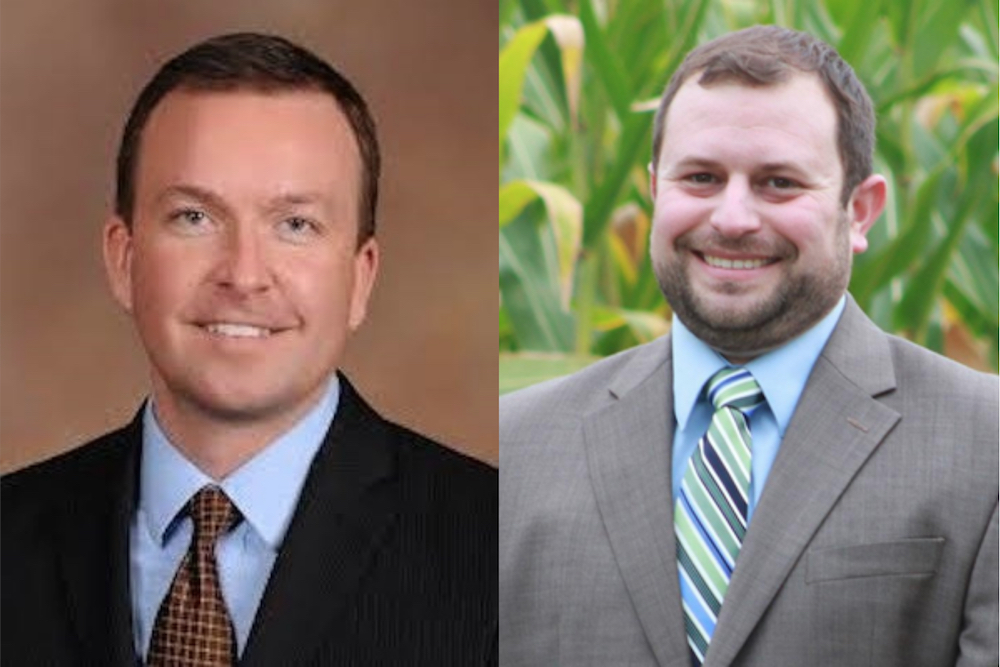 Andy Manar, left, and Seth McMillan
