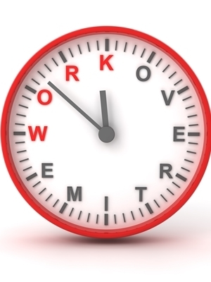 Large overtime clock