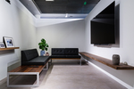 Black is a powerful color which is getting a lot of use in contemporary interior design.