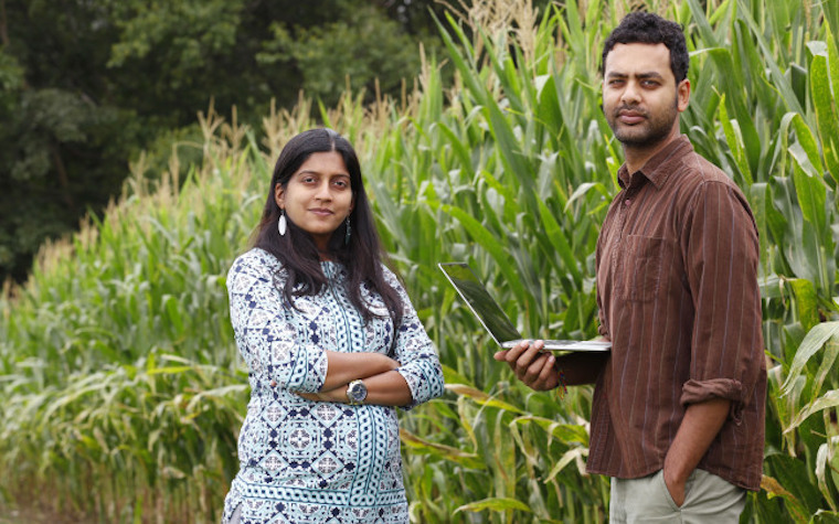 Prashant Rajan, an assistant professor of English and communication studies, and Shweta Chopra, an assistant professor of agricultural and biosystems engineering, traveled to India.