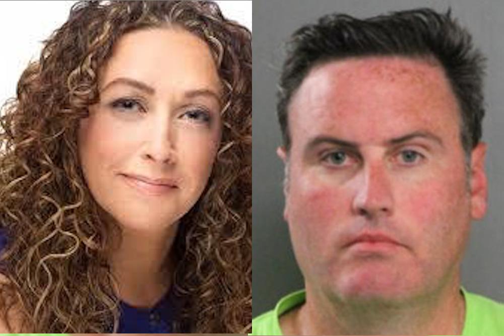 Sarah Mckay (left) and estranged husband Kevin Quinn.