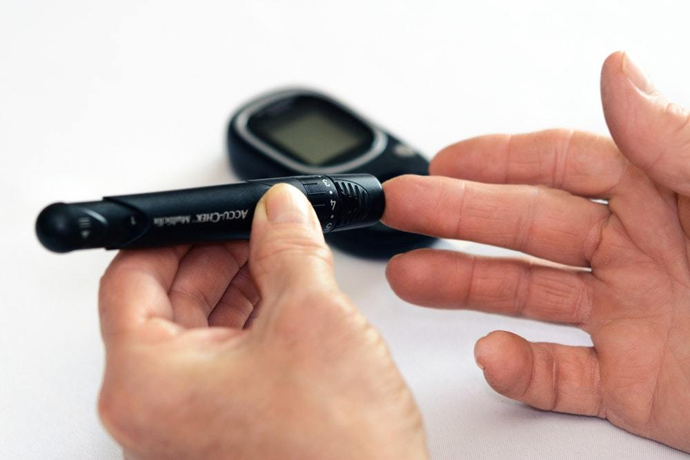 Checking close up diabetes 1001897