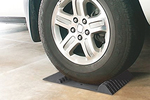 These mats are a simple way to know exactly where the tires are in a garage.