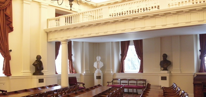 The Old Virginia House of Delegates chamber