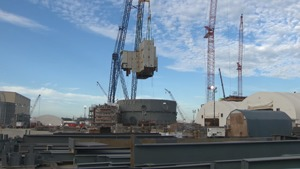 A still from a video released by SCE&G celebrating the progress of construction at the V.C. Summer Nuclear plant.