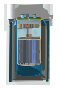An artist's rendering of an Integral Molten Salt Reactor.
