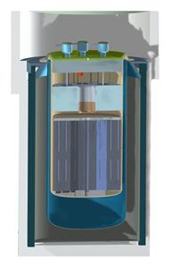 An artist's rendering of an Integral Molten Salt Reactor.