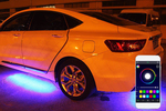 This underglow kit comes with flashing patterns that can be controlled from a smart phone.