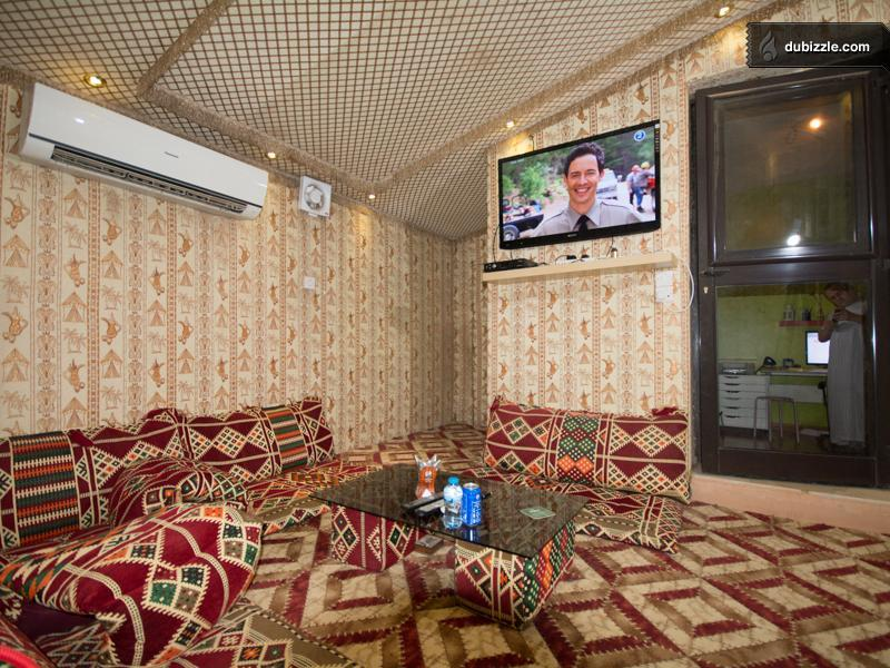 The Arabian sitting room is just one of several beautiful rooms in the