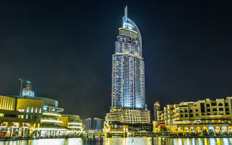 Address Hotel and Lake Burj Dubai in Dubai.