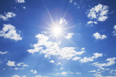 Sunlight contains both UV rays and visible light.