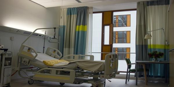 Large hospital bed