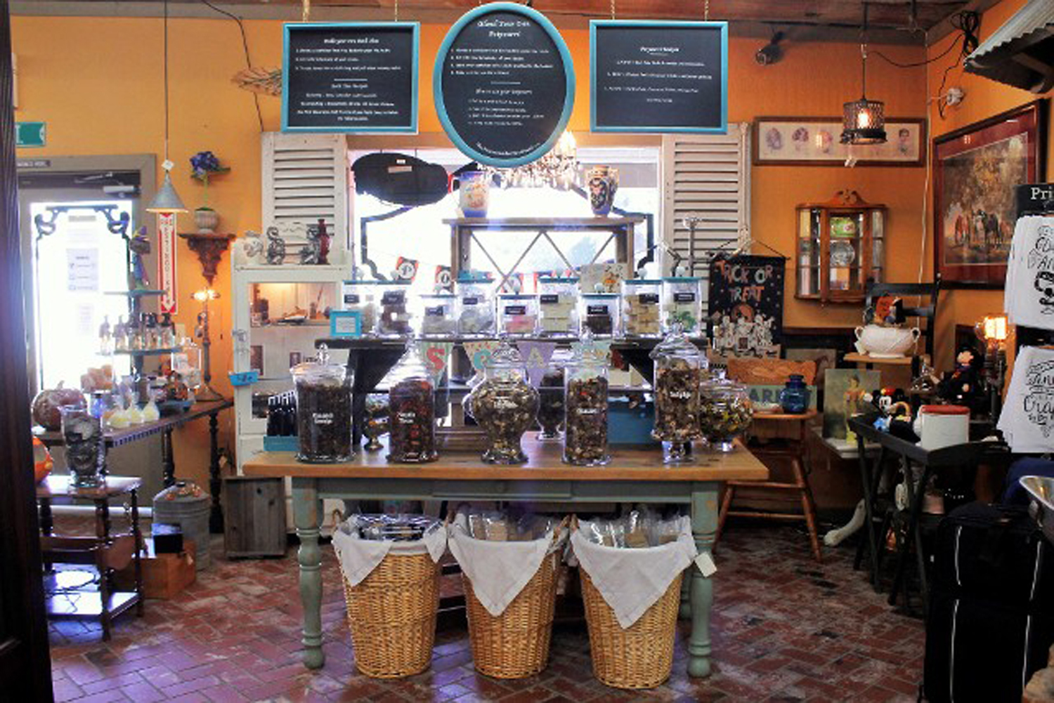 Multiple dealers stock the inventory at 4th Street Antiques.