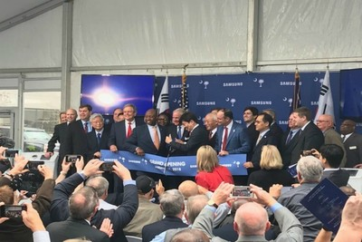 Political and business community members welcomed Samsung's operations to the Palmetto State.
