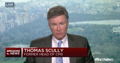 In a CNBC interview, former CMS Administrator Tom Scully criticized calls to allow the feds to negotiate drug prices.