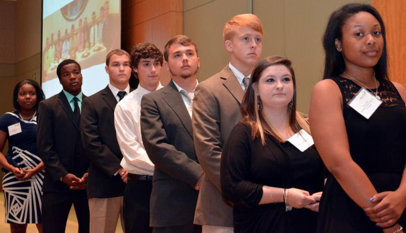 Career Academy students were recently honored by the Charleston Metro Chamber of Commerce.