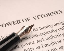 Large power of attorney