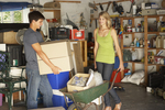 Get the whole family involved in cleaning out your garage.