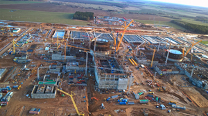 Belarus' Ostrovets Nuclear Plant construction site