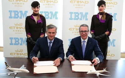 Etihad Airways selects IBM as technology service provider.