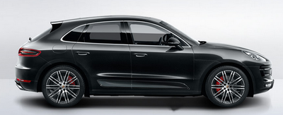 The 2015 Porsche Macan Turbo is similar in looks to the Cayenne.