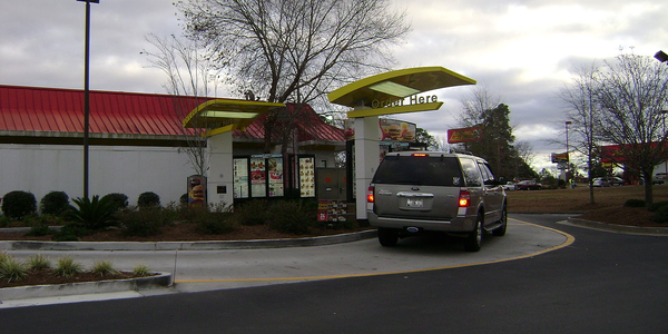 Large mcdonalds drive thru