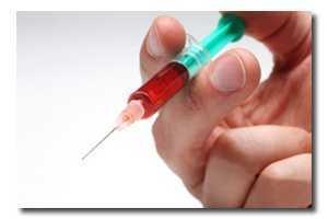 Phlebotomist needle blood