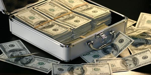 Large stealing money