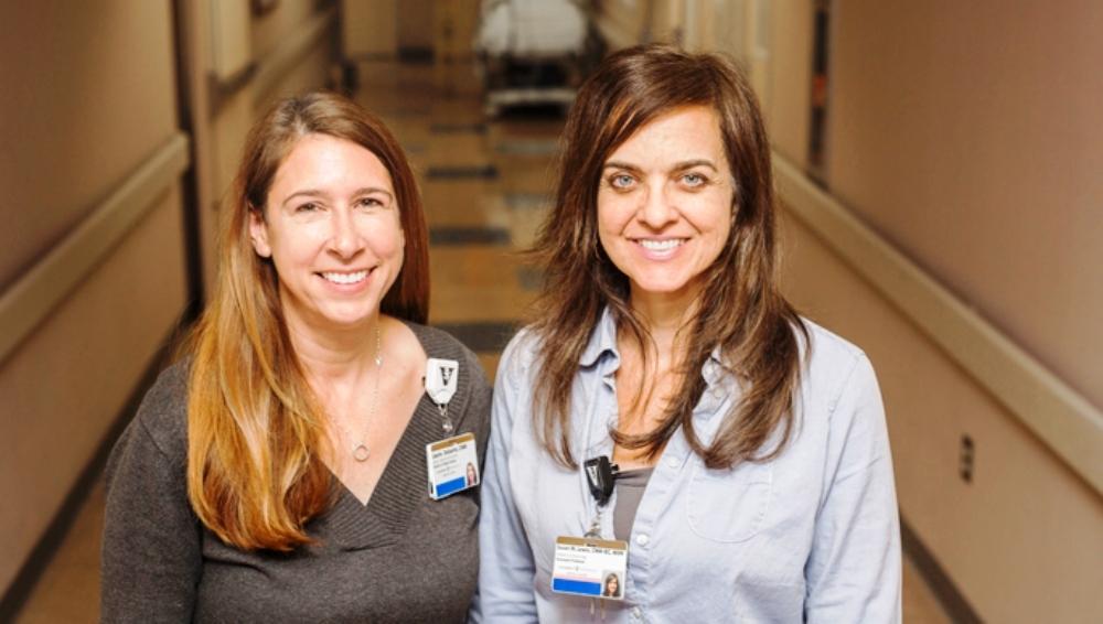 Laurie DeSantis, left, and Susan Lewis