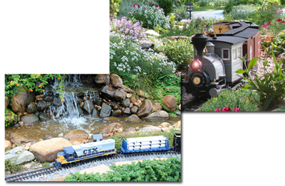 The garden train will be on the lawn near the auditorium this year.